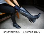 Horse Riding. Leather...