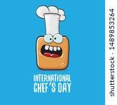 international chef day greeting ...   Shutterstock .eps vector #1489853264