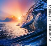 beautiful sunrise over ocean...   Shutterstock . vector #148988501