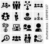 business man vector icons set...   Shutterstock .eps vector #148989137