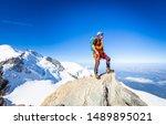 Alpinist Guy Mountaineer Man...