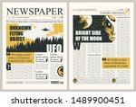 vector template for the layout... | Shutterstock .eps vector #1489900451