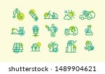 set of various ecology icons in ... | Shutterstock .eps vector #1489904621