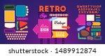 retro signboard creator. set... | Shutterstock .eps vector #1489912874