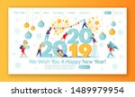 concept of landing page on... | Shutterstock .eps vector #1489979954