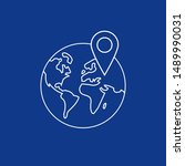 vector illustration of globe... | Shutterstock .eps vector #1489990031