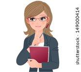 eye wear glasses teacher... | Shutterstock .eps vector #149000414