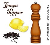 Lemon Pepper  Wood Spice Mill...