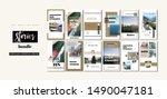 social media banner. set of... | Shutterstock .eps vector #1490047181