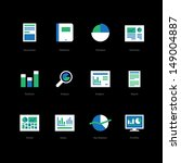 business and finance flat icons ...
