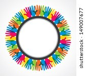 colorful hand background vector   Shutterstock .eps vector #149007677