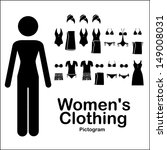 women clothing over white...