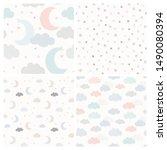 night sky vector pattern set... | Shutterstock .eps vector #1490080394