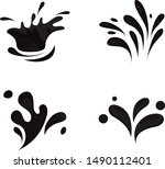 water splash and drop icons  ... | Shutterstock .eps vector #1490112401