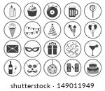 party icons vector collection | Shutterstock .eps vector #149011949