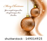 christmas background. eps10. | Shutterstock .eps vector #149014925