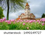 New Zealand, Northern Island. The old Post Office Building in the city of Rotorua.  Today