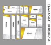 geometric web banners templates ... | Shutterstock .eps vector #1490149967
