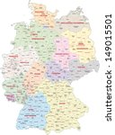 administrative map of germany | Shutterstock .eps vector #149015501