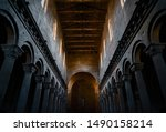 The Interior With Stone Columns ...