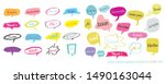 hand drawn set of colorful... | Shutterstock .eps vector #1490163044