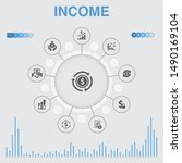 income infographic with icons....