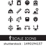 scale and weight icons set.    Shutterstock .eps vector #1490194157