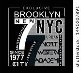 brooklyn graphic background... | Shutterstock .eps vector #1490207891