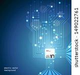 circuit board vector | Shutterstock .eps vector #149022761