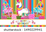 happy birthday  greeting card.... | Shutterstock .eps vector #1490229941