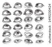 set of human eyes for design of ...   Shutterstock .eps vector #1490230424