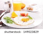 breakfast with egg | Shutterstock . vector #149023829