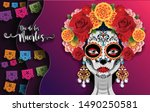 day of the dead  dia de los... | Shutterstock .eps vector #1490250581