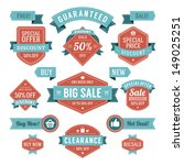 vector vintage sale labels and... | Shutterstock .eps vector #149025251