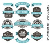 vector vintage sale labels and... | Shutterstock .eps vector #149025257