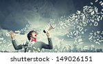 portrait of young man shouting... | Shutterstock . vector #149026151
