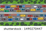 traffic road vector top view...   Shutterstock .eps vector #1490270447