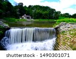 The Dam At Oak Creek Pond With...