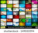 professional business card set. | Shutterstock .eps vector #149033594