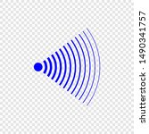 sonar search sound wave icon | Shutterstock .eps vector #1490341757