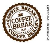 coffee break grunge rubber... | Shutterstock .eps vector #149035355