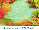 Autumn Background Of Seasonal...