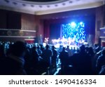 blurred scene of a concert...   Shutterstock . vector #1490416334