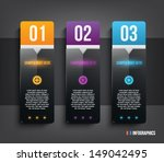 glossy plastic banners with... | Shutterstock .eps vector #149042495