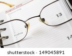 page of a calendar with glasses ... | Shutterstock . vector #149045891