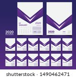 desk calendar 2020 template... | Shutterstock .eps vector #1490462471