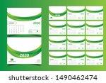 desk calendar 2020  vector... | Shutterstock .eps vector #1490462474