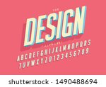 vector of stylized modern font... | Shutterstock .eps vector #1490488694