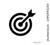 target icon vector. mail icon... | Shutterstock .eps vector #1490493254