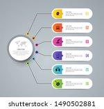 infographics design vector... | Shutterstock .eps vector #1490502881